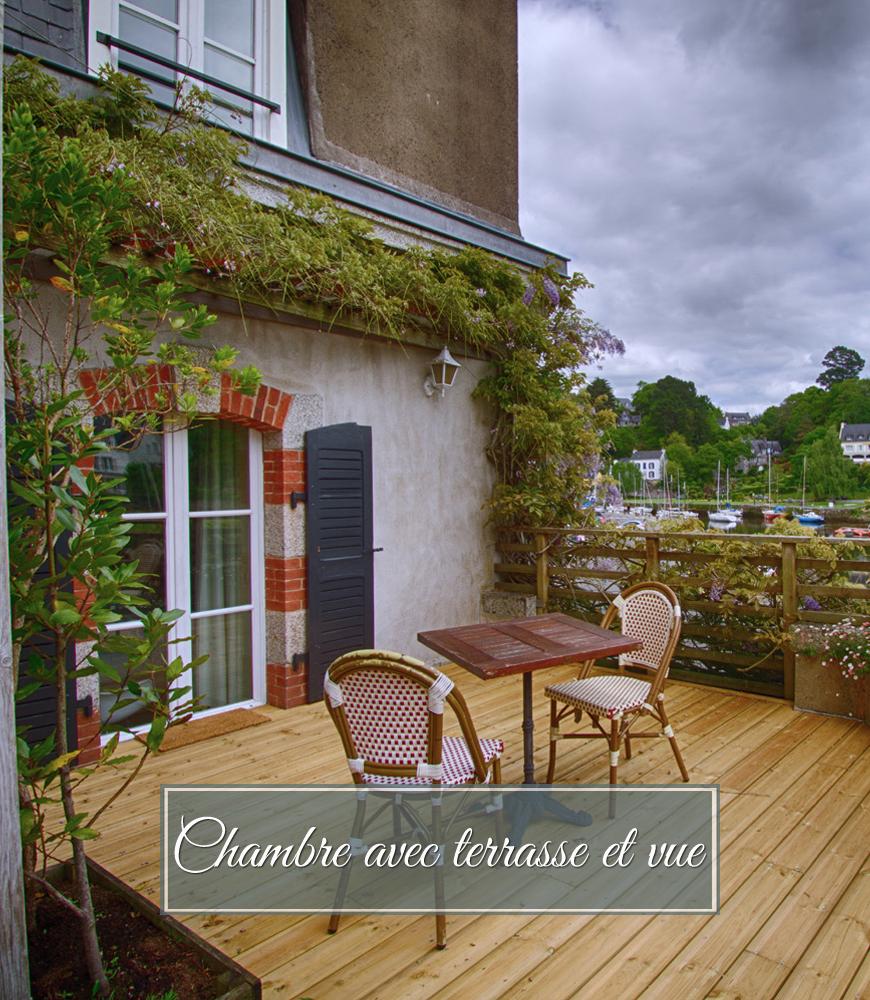 Chambre terrasse et vue Hôtel Les Mimosas