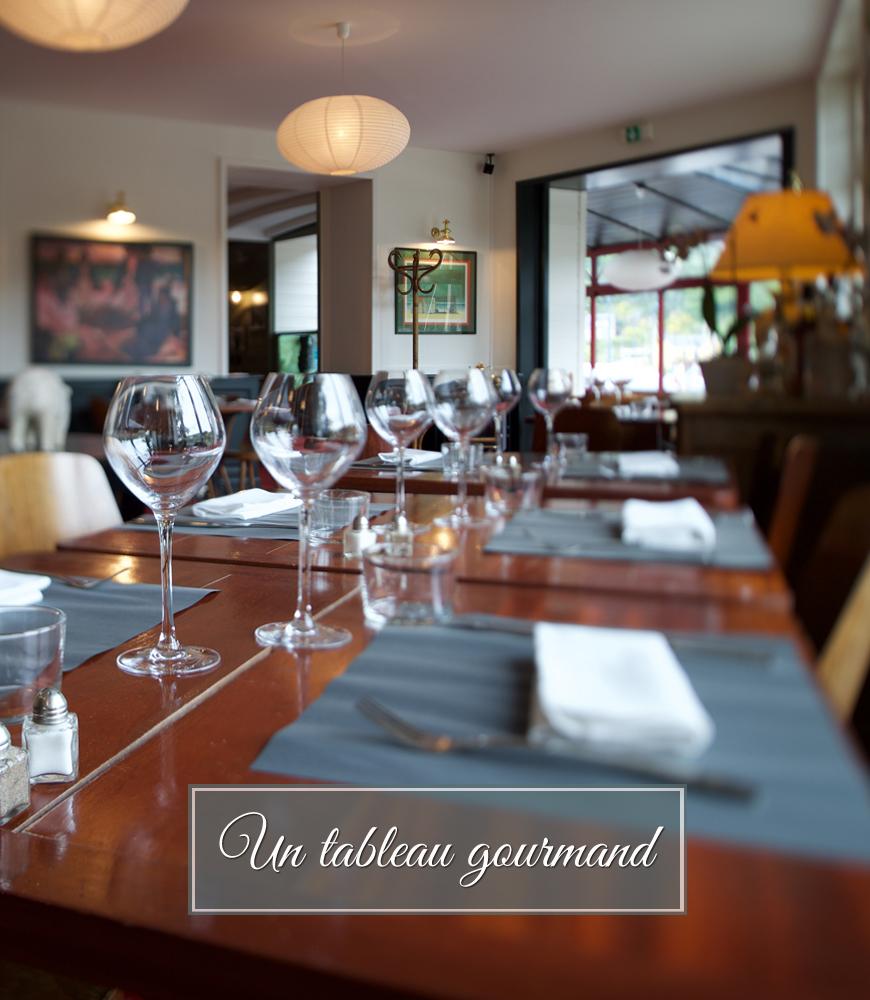 salle de restaurant Les Mimosas